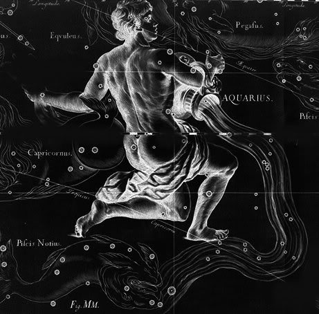 Astrological constellation of aquarius the water bearer