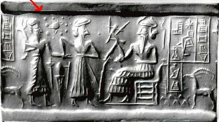 sumerian tablet depicting solar system with a tenth planet
